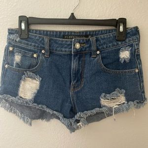 Erin Wasson Denim cut off short shorts!